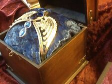 Harry Potter Lost Diadem Of Ravenclaw Replica In Antique Full Size Wood Box Prop
