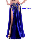 Sexy Belly Dance Costume Both Sides Slits Skirt 14colors