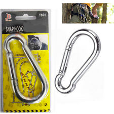 100MM Gauge Carabiner Snap Hook Steel Heavy Duty Carabiners Swivel Spring Clip