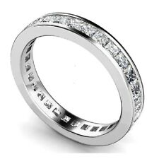 Fabulous 1.00Ct Princess Diamond Channel Set Full Eternity Ring in 9k White Gold