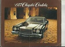 CHRYSLER CORDOBA CAR SALES BROCHURE  FOR 1977 MODEL YEAR