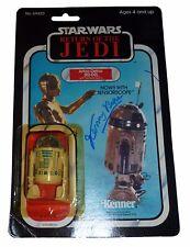 De colección Guerra de las galaxias Kenny Baker Firmado cardada figura Rotj R2-D2 prueba exactas MOC
