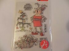 AI Art Impressions Clear Stamps - Reindeer Games SC0715  #1318