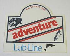 VECCHIO ADESIVO / Old Sticker RALLY RAID 1985 ADVENTURE (cm 10 x 9)
