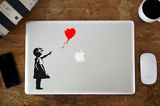 "Banksy Rojo Niña Con Globo MacBook Pegatina para Apple Air/Pro 12"" 13"" 38.1cm"