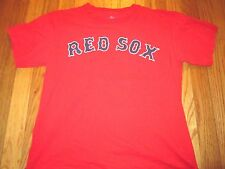 VINTAGE MLB BOSTON RED SOX MANNY RAMIREZ RED JERSEY T-SHIRT SIZE YOUTH L