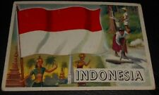 1956 Topps Trading Cards Flags of the World #20 INDONESIA