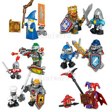 New 16pcs Nexo Knights Minifigures Minifigs Building Blocks Toy Kids Gifts