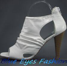 Sexy High Heels WEIß Luxus Disco Partyschuhe top hingucker Gr.40