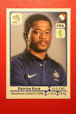 Panini EURO 2012 N. 463 FRANCE EVRA NEW With BLACK BACK TOPMINT!!