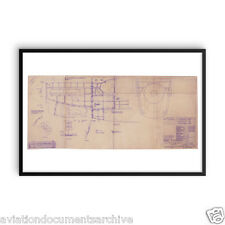Rolls Royce Merlin Aircraft Engine Drawing Art Print Poster- 24x36 (60x90)