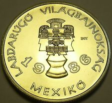 Rare Gem Unc Hungary 1985 100 Forint~Mexican Artifacts~World Cup~30K Minted~Fr/S