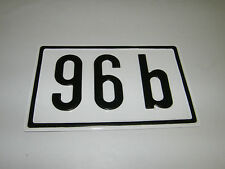 BLECHSCHILD Nr. 96 B 20,5x13cm HAUS SCHILD HAUSNUMMER PARZELLE SCHREBERGARTEN