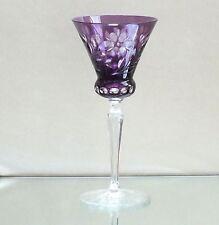Art Deco Josephinenhütte Römer Überfangglas Kristall Dekorglas Antikglas lila 69