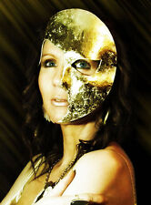 Gold Moon Mask Handmade Leather Venetian Masquerade