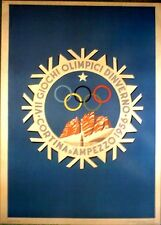 "1956 Cortina d'Ampezzo - WINTER OLYMPIC POSTER - IOC Licensed reprint  13"" x 18"""