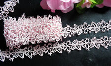 5/8 inch wide pink lace/trim selling by the yard