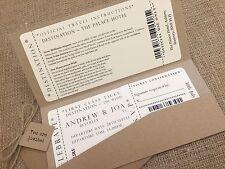 1 VINTAGE / Shabby Chic Stile Tasca biglietto wedding invitation stationery campione