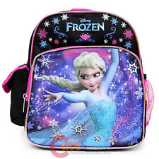 "Disney Frozen Princess Elsa 10"" School Backpack Toddler Mini Bag Black Pink"