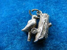 VINTAGE STERLING SILVER CHARM WOODPECKER MOVES