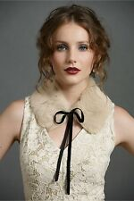 "BHLDN Anthropologie Va Et Vien Soft Rabbit Fur ""Fireside Collar"" - NWT - $100"