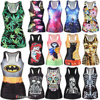 Hot Womens Vest Tank Tops Blouse Gothic Punk Shirts T-Shirt Cami Beach Clubwear