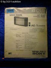 Sony Service Manual KV C25TD Color TV (#5583)
