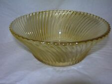 Federal Glass Co. Diana Amber Depression Glass  Cereal Bowl/s  Nice