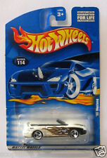 1996 Ford Mustang, Hot Wheels White '96 Mustang Convertible New on Card