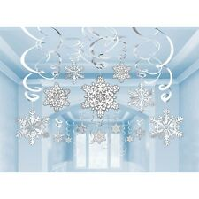 Frozen Party Supplies SNOWFLAKE 30 Swirl Decorations Genuine Licensed