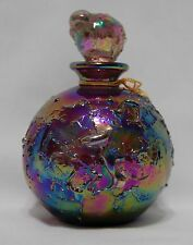 Beautiful Iridescent Perfume Bottle with glass stopper made by Glass Act Studios