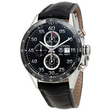 Tag Heuer Pre owned Carrera Calibre 1887 Chrono 43mm AUTO bk d Watch