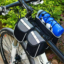 Gray Bike Bicycle Cycling Bags 5 In 1 Frame Front Tube Bag with Rain Cover