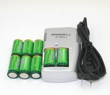 8pcs Etinesan 1350mAh 3v CR123A rechargeable lithium battery + battery charger
