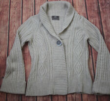 Marks and Spencer Wool Mix Angora Cardigan Size 8 - Cable Knit M&S