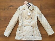 NEW authentic BURBERRY women Beige Diamond quilted jacket Size XXL US-10 (It-46)