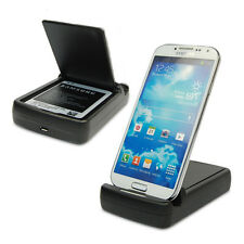 For Samsung Galaxy S4 IV i9500 Dual Battery Charger Dock Charging Cradle