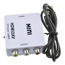 Mini Composite 1080P HDMI to RCA Audio Video AV CVBS Adapter Converter For HDTV