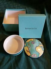 "Tiffany & Co. Porcelain Tauck World DIscovery 5"" Trinket / Powder Box"