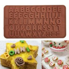 Moldes Silicona letras Carta Chocolate Tarta Fondant Decoración Cake Mould Mold