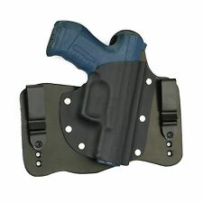 FoxX Leather & Kydex IWB Hybrid Holster Walther P99 Black Right draw Tuckable