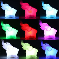 Color Child Gift Elephant Shape  Changing LED Night Light Lamp Home Party Decor