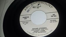 SHORTY ALLEN THE INSPIRATIONS Rhine Stones / Ya Ya Wunderbar ABC PARAMOUNT 45 7""