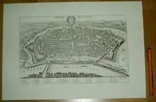 Wien alte Ansicht Merian Druck Stich 1650 (schw)