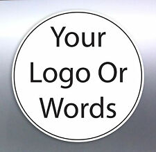 126 @ 10 mm Circle sticker Custom Your Text Words logo Australian made free post