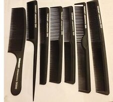Hair Cutting Comb Set of 7 Silicon Carbon anti static profesional barber stylist