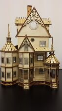 Ashley Gothic Victorian  Dollhouse Quarter Inch/ 1:48 scale Kit , Free shipping!