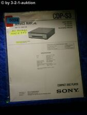Sony Service Manual CDP S3 CD Player (#5024)