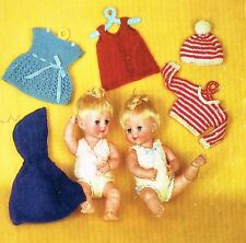 "Dolls clothes knitting pattern for 16"" doll. Laminated copy. (V Doll 02)"