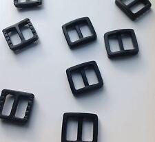 10mm plastique NOIR diapositive triglide boucle x 10